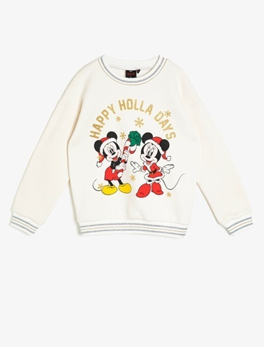 Koton Kids Minnie By Koton Sweatshirt Ekru